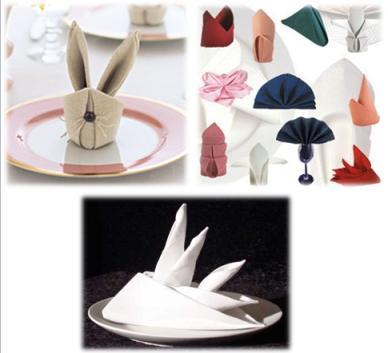 assorted napkin designs