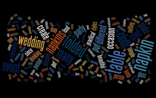 your tablecloth wordle art