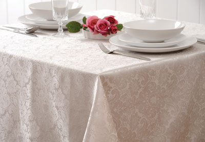 Ivory Kensington Rectangle Tablecloth