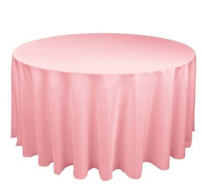 pink wedding tablecloths