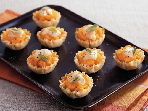 butternut squash tartlets