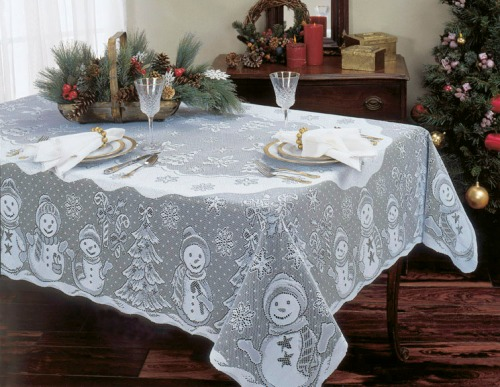 Snowman Rectangle Tablecloth