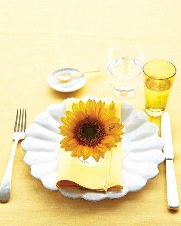 flower on cloth napkin