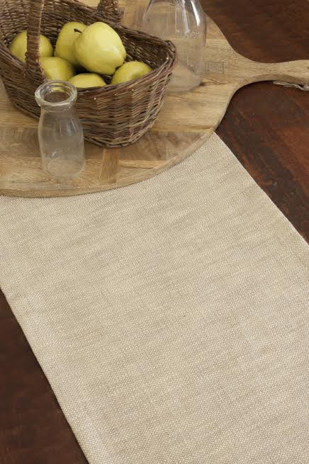natrual woven table runners