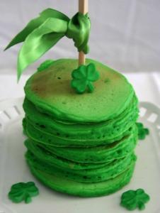 St Patricks day pancakes
