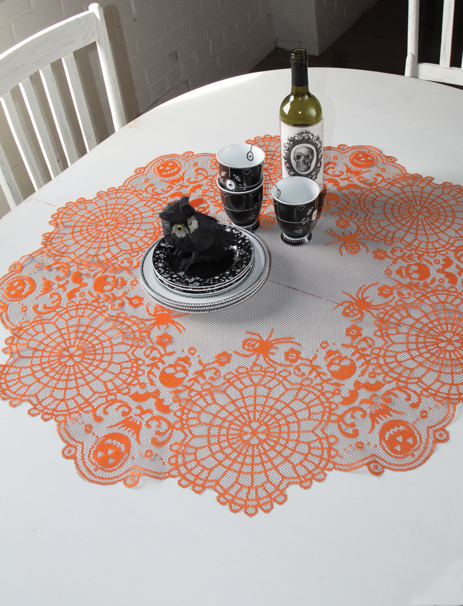 Attrayant Frightful Halloween Table Topper