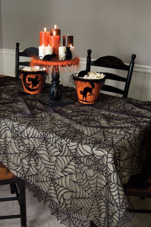 Spider Web Rectangle Tablecloth