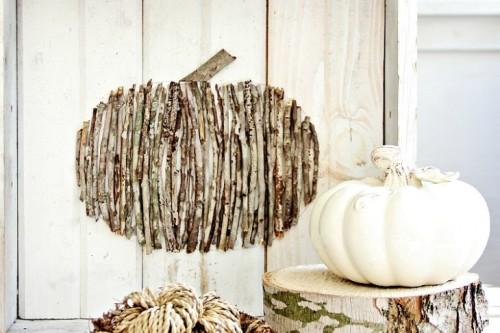 wood stick pumpkin
