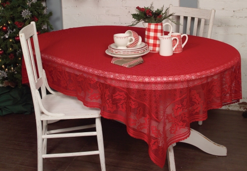 Holly Vine Christmas Tablecloth