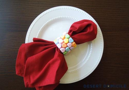 DIY Valentines Napkin Rings