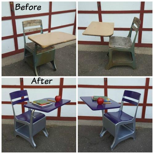 School Desk Collage 4