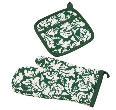 oven-mitt-and-pot-holder-dark-green