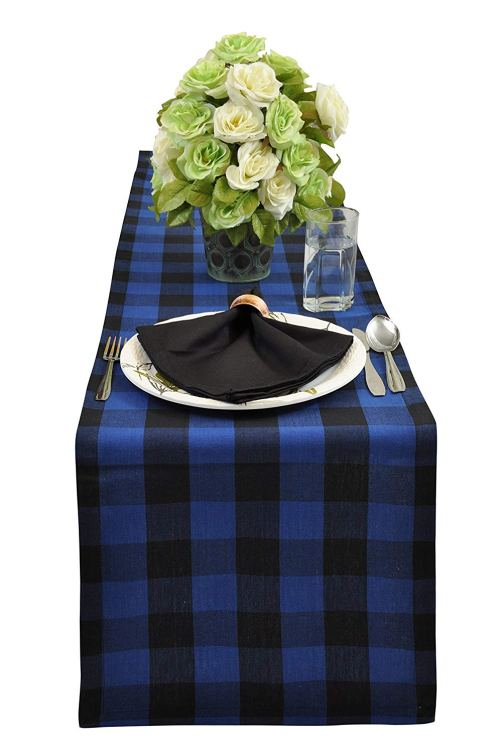 gingham table runner