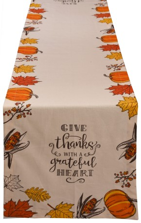 THANKS GIVING PRINTED TABLE RUNNER